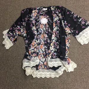 NWT Floral kimono-s/m